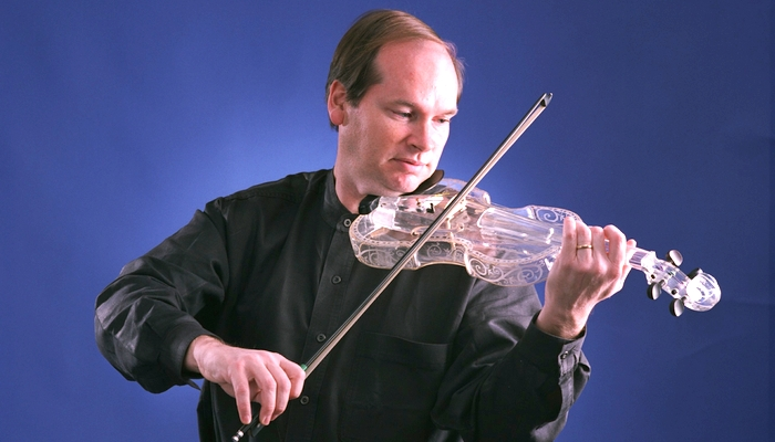 Dean Shostak's glass violin